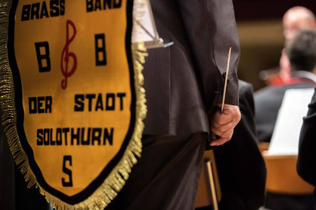 Der Dirigent der Brass Band Solothurn Martin Bütikofer