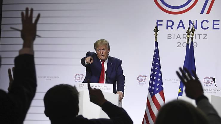US-Präsident Donald Trump am G7-Gipfel im französischen Biarritz im August 2019. (Archivbild)
