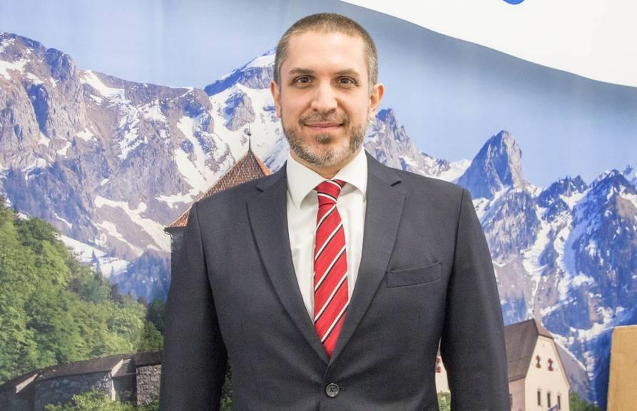 Der Mediensprecher von Liechtenstein Marketing: Joël Grandchamp. Bild: FM1Today/Stefanie Rohner