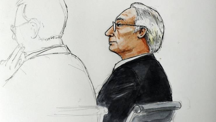 Der Angeklagte Rolf Erb im Gerichtssaal des Winterthurer Bezirksgerichts.