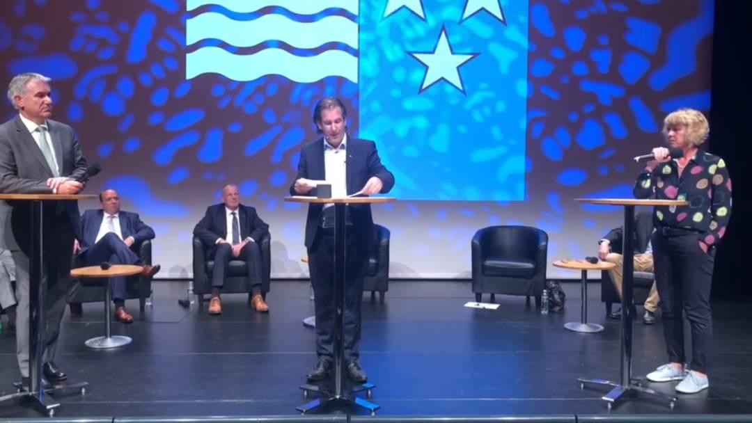Podium Regierungsratskandidaten: Das vierte Duell - Guyer gegen Hürzeler