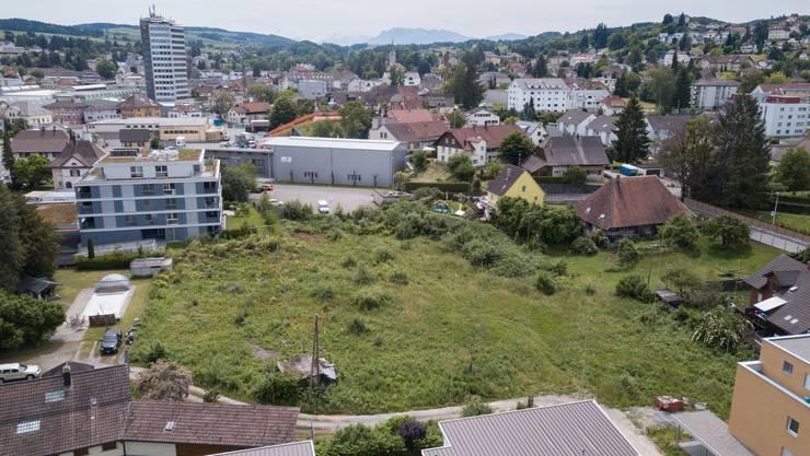 Auf dem Brachland im Menziker Unterdorf sollen fünf Mehrfamilienhäuser entstehen.
