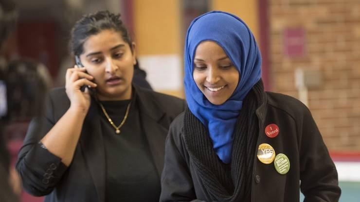 Ilhan Omar - eine von zwei Musliminnen.