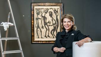 Caroline Lang, Chefin von Sotheby's Schweiz, liebt Kunst und Kommerz. Bild: Sandra Ardizzone (7.11.2019)