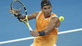 Konzentriert und brutal stark: Rafal Nadal lässt im Halbfinal des Australian Open auch Federer-Bezwinger Stefanos Tsitsipas absolut keine Chance