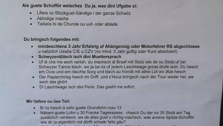 «Dini Muetersproch isch Schwizerdütsch!»