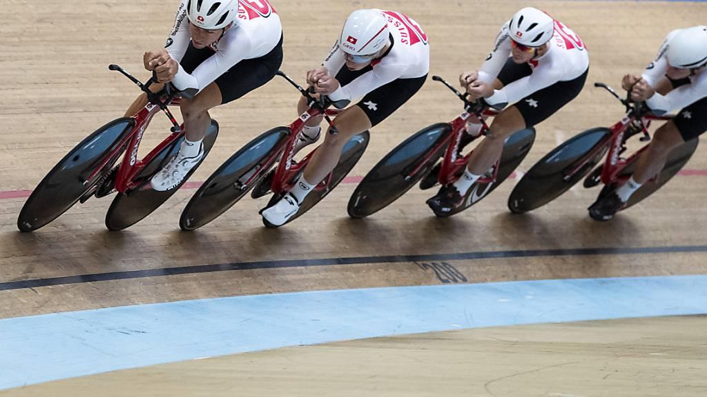 Der Schweizer Bahnvierer tritt an den Olympischen Spielen in Tokio in überraschender Form an - «Lokomotive» Stefan Bissegger ist aber mit dabei
