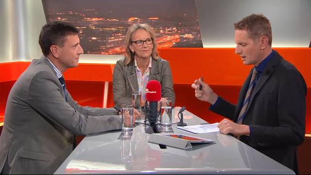 TalkTäglich: Ruth Baumann-Hölzle und Franz Immer diskutieren das Für und Wider der Organspende-Initiative.