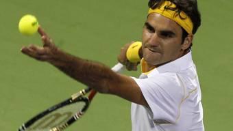 Roger Federer setzte sich gegen Landsmann Marco Chiudinelli durch