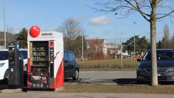 Der neue Selecta-Automat steht an der Chapfstrasse.