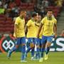 Casemiro (5) sicherte Brasilien mit seinem Tor immerhin das Remis