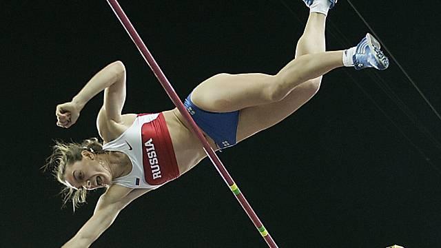 Jelena Isinbajewa schafft die Anfangshöhe von 4,70 dreimal nicht.