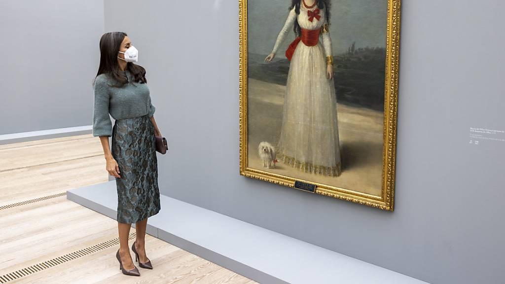 Spaniens Königin Letizia auf Kunst-Besuch in Riehen