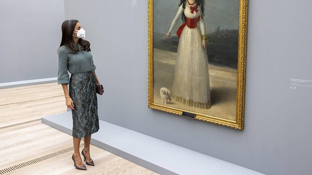Königin Letizia von Spanien traf in der Fondation Beyeler in Riehen auf königliche Häupter der Vergangenheit, wie hier die 1795 von Goya porträtierte «Doña Maria del Pilar Teresa Cayetana de Silva Alvarez de Toledo, XIII duquesa de Alba».