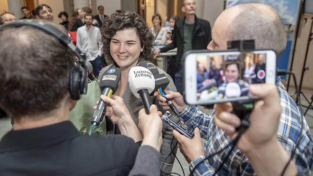 Trotz Niederlage im Zentrum des medialen Interesses: Korintha Bärtsch (Grüne) hat es im zweiten Wahlgang der Luzerner Regierungsratswahlen nicht geschafft, sich gegen die bisherigen Paul Winiker (SVP) und Marcel Schwerzmann (parteilos) durchzusetzen.