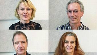 Caroline Vitale, Peter Baur, Walter Sigi Arnold und Franziska Senn (von oben links im Uhrzeigersinn) bestreiten in Luzern und Beckenried die musikalisch-literarischen Abende.