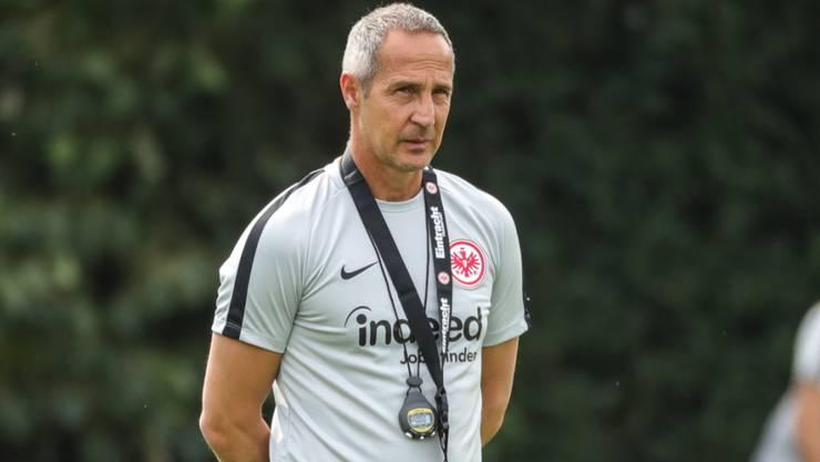 Wechselte nach dem Meistertitel mit den Young Boys auf diese Saison hin in die deutsche Bundesliga: Adi Hütter, Coach von Eintracht Frankfurt