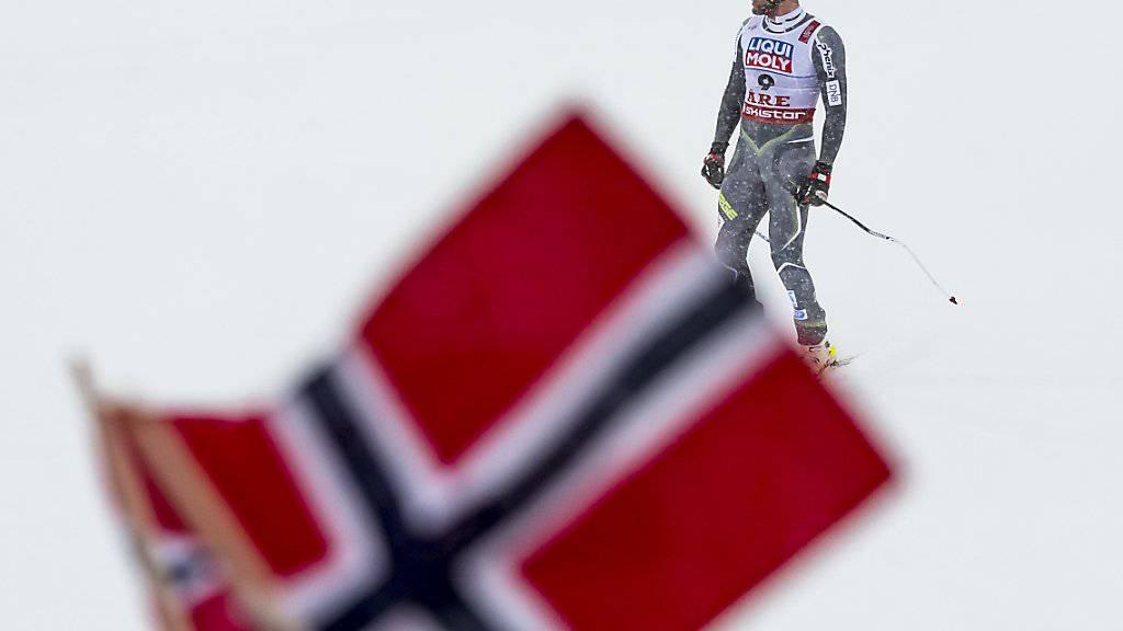 Der Norweger Aksel Svindal nach seinem letzten Rennen