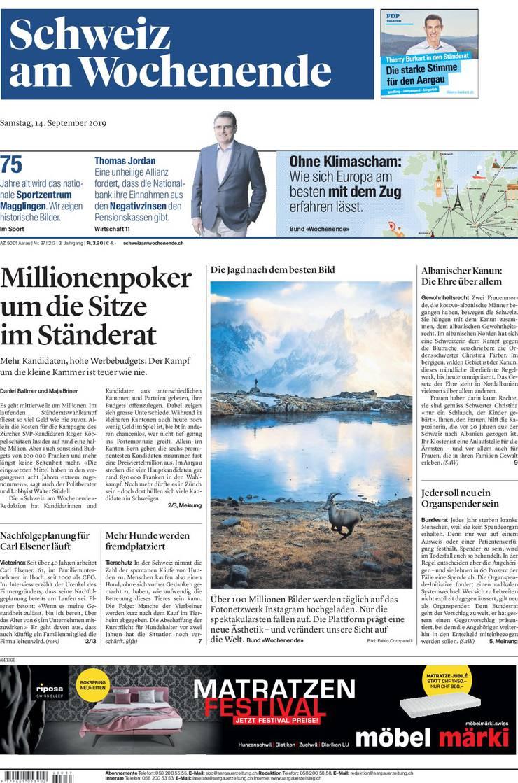 Schweiz am Wochenende vom 14 und 15 September 2019