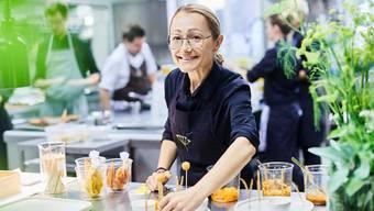 Tanja Grandits, die erfolgreichste Köchin der Schweiz, im Basler Restaurant Stucki.