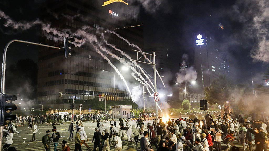 Unruhe in Indonesien: In Jakarta gab es auch in der Nacht auf Donnerstag erneut Proteste.