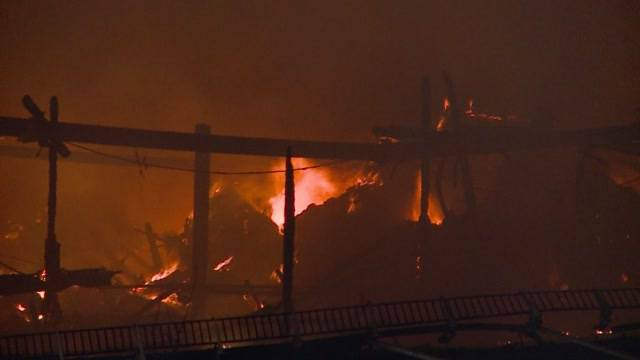 Bauernhofbrand in Densbüren