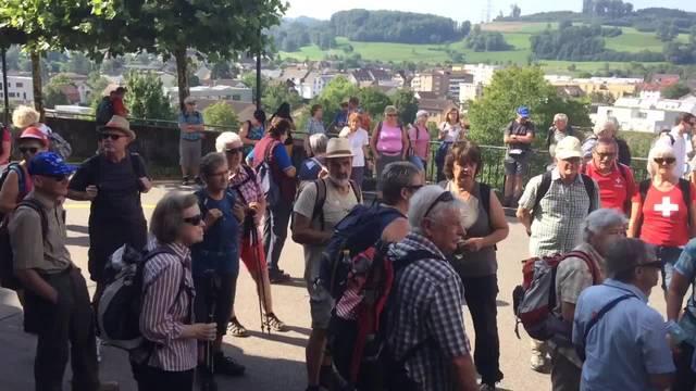 Besammlung zur 10. Etappe in Birmensdorf ZH