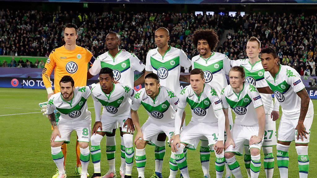 Das Wolfsburger Team vor dem Viertelfinal-Hinspiel der Champions League gegen Real Madrid