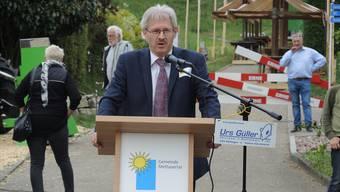 Kurt Schmid, Präsident des Aargauischen Gewerbeverbands.