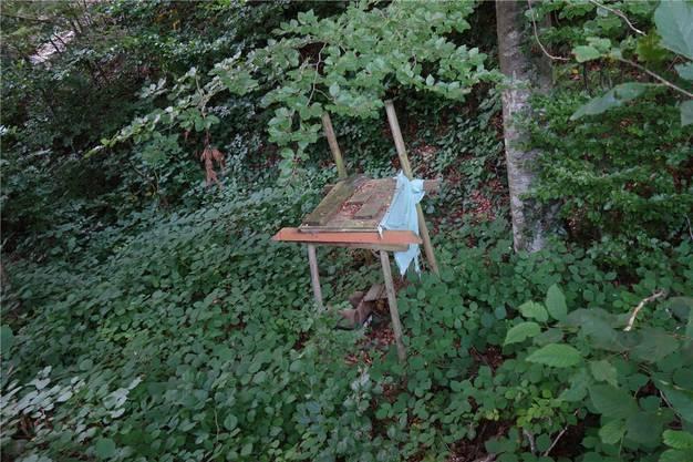Klar nicht erlaubt: Überreste einer improvisierten Hütte.