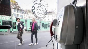 Telefonkabinen sind in Basel ein Auslaufmodell
