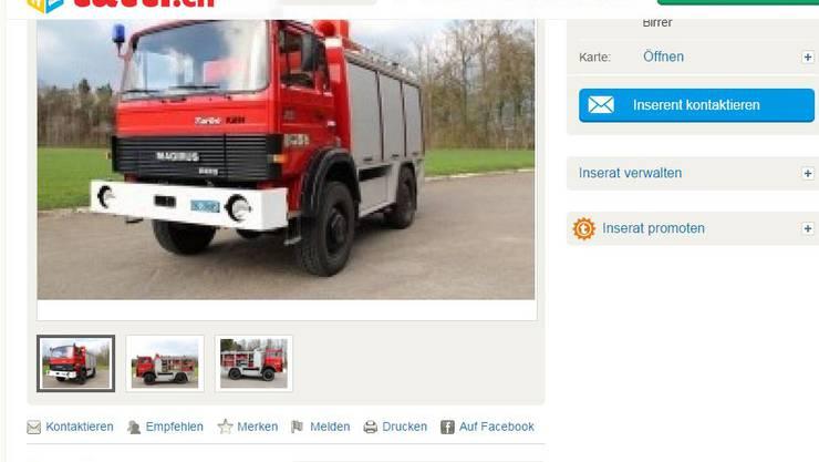 Inserat der Feuerwehr Bözberg