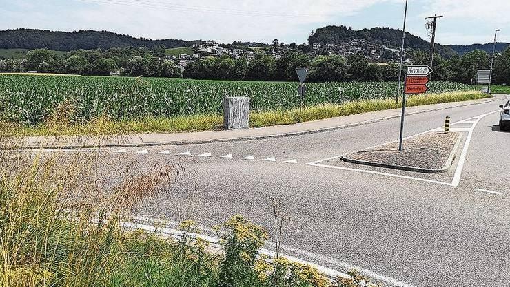 Das Landstück neben der Suhrentalstrasse (vorne) soll in Gewerbegebiet umgezont werden.
