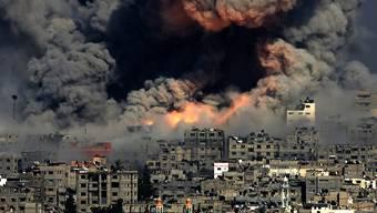 Einmal mehr eskaliert der Konflikt zwischen Israel und Gaza. Immer wieder kommt es zu Angriffen beider Seiten. Im Bild: Das Quartier Tuffah nach einem Luftangriff Israels im Sommer 2014. (Bild: Keystone)