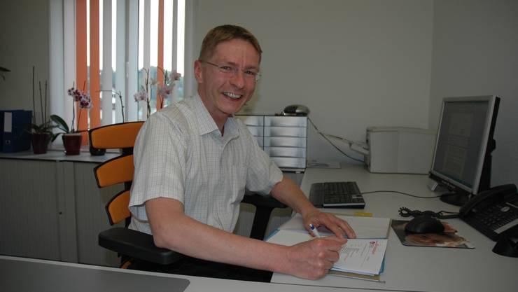 Ende April räumt er sein Büro: Gemeindeschreiber Uwe Krzesinski will sich beruflich weiterbilden.  nem
