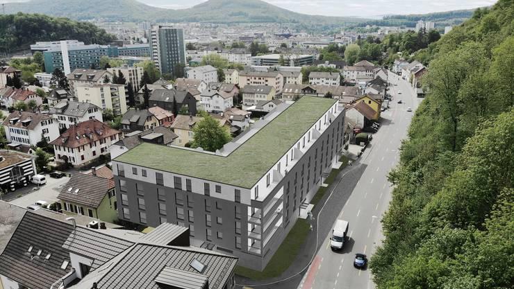 Der Winkelbau wird sowohl von der Brückenstrasse als auch von der Baslerstrasse zugänglich sein.