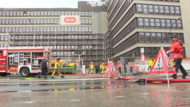 Brand in der Schönburg