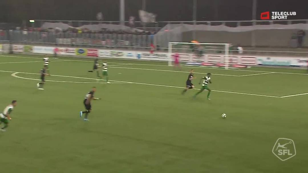 Challenge League 2019/20, 10. Runde: SC Kriens - FC Aarau, 32. Minute
