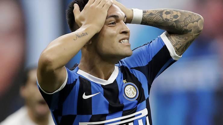 Grosse Chance vergeben: Inter Milans Goalgetter Lautaro Martinez ärgert sich während des 0:0 gegen Fiorentina