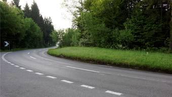 Die Fahrbahn soll verbreitert und die Kurve gestreckt werden. Dominic Kobelt