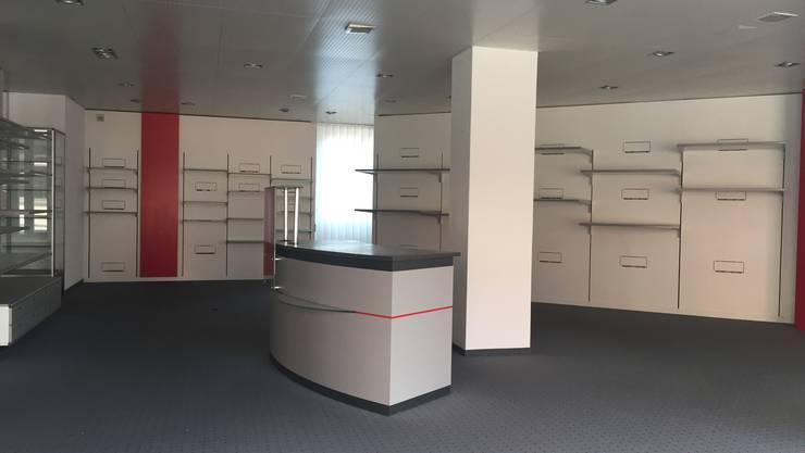Die leere Verkaufsfläche des ehemaligen Hi-Fi-Fachgeschäftes Roth.