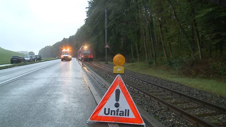 Die Strasse zwischen Riedholz und Flumenthal wurde während der Unfalluntersuchung gesperrt