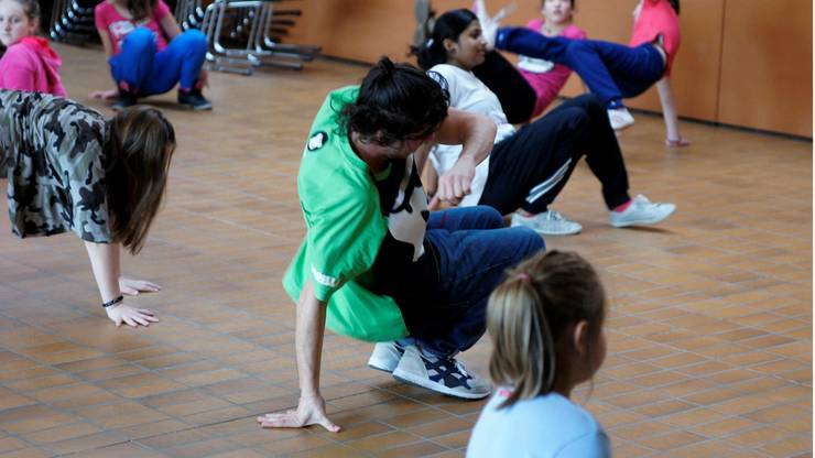 Sporttag an der Heilpädagogischen Schule in Wohlen, in Form eines Gorilla-Tagesworkshops. Gorilla ist ein Präventionsprojekt gegen Übergewicht bei Kindern und Jugendlichen.