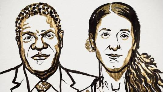 Denis Mukwege and Nadia Murad.