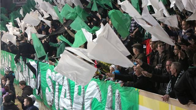 Die Fans des EHC Olten beweisen Solidarität.
