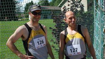 Zufrieden: Die Brüder Marc (l.) und Jürg Ritz während des Wettkampfes.
