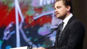 Oscar-Anwärter Leonardo DiCaprio - hier an der Weltklimakonferenz in Paris - freut sich auf sein Filmprojekt zum VW-Abgas-Skandal (Archiv).