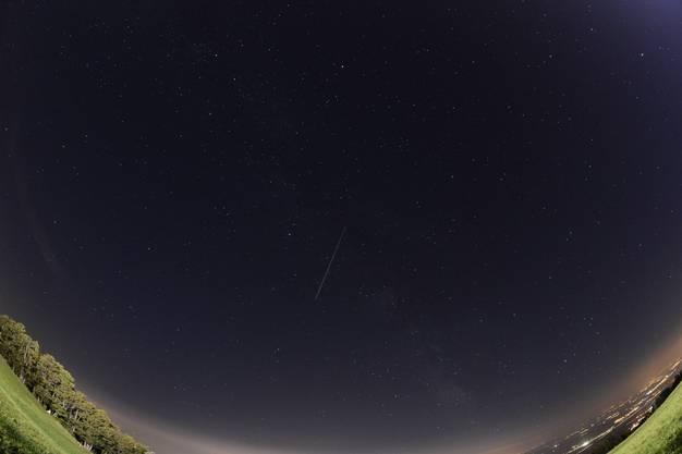 Sternschnuppen regnen über er Schweiz nieder