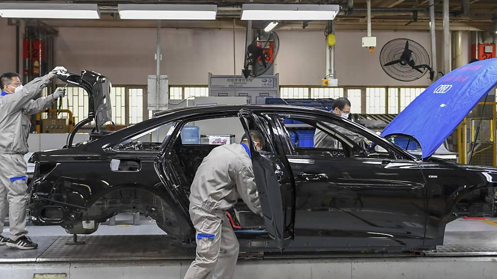Audi erwartet Konsolidierung im Markt der Automobilhersteller und -zulieferer wegen Umstieg auf E-Autos (Archivbild)