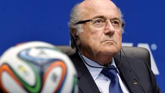Fifa-Präsident Sepp Blatter an der Pressekonferenz in Zürich.